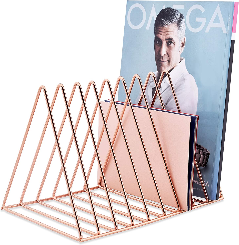 Febou File Sorter Magazine Holder Book Max 51% OFF Holde Record Rack Product Slot 9