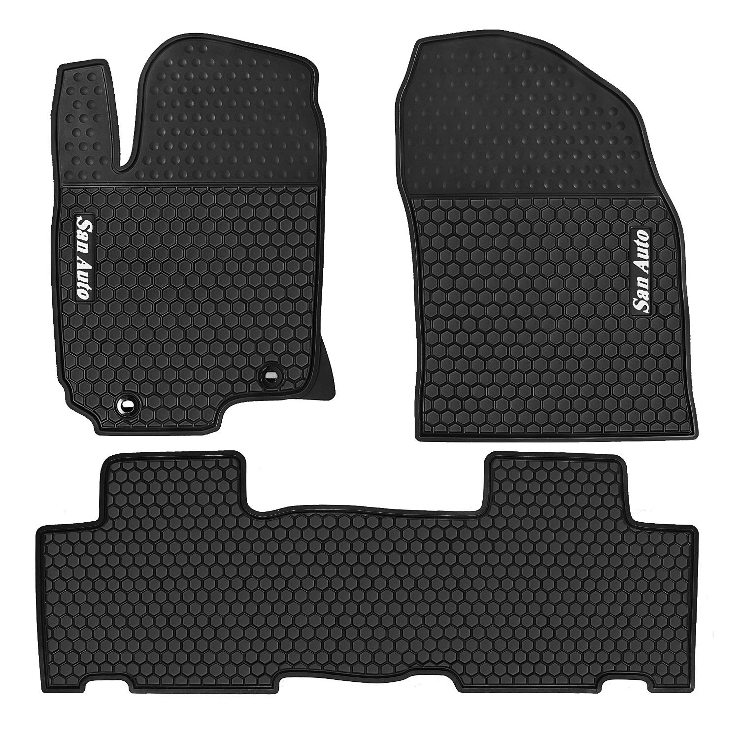 HD-Mart Car Rubber Floor Mat for Honda Civic 10th Generation 2016-2017-2018-2019 Custom Fit Black /& Navy Blue Auto Liner Mats All Weather Heavy Duty /& Odorless