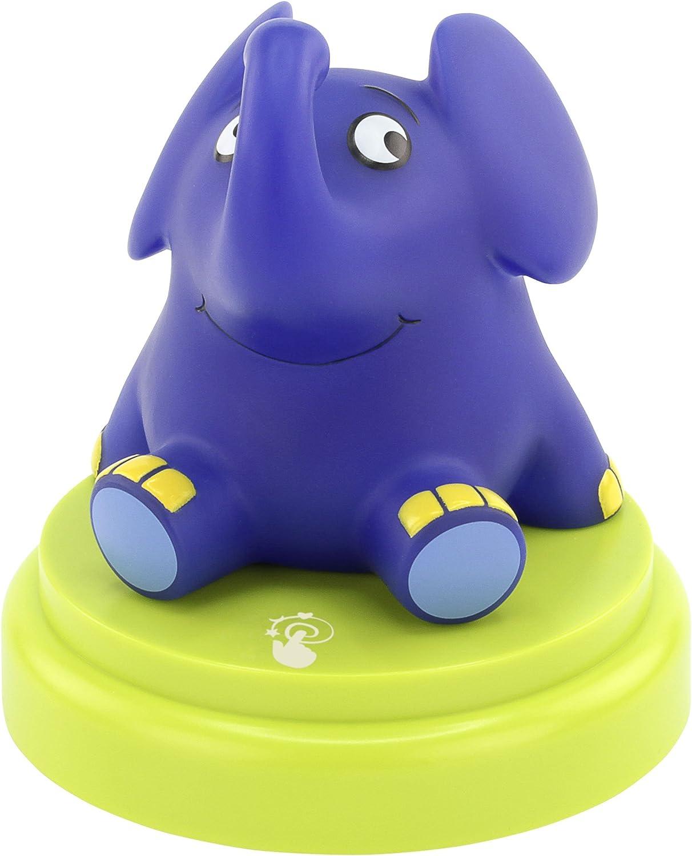ANSMANN LED Nachtlicht Elefant - Süe Einschlafhilfe mit Sensor Touch - Kinderlampe ideal als Nachttischlampe Babylicht Kinderlicht Tischlampe Touchlampe Nachtlampe für Baby & Kind im Kinderzimmer