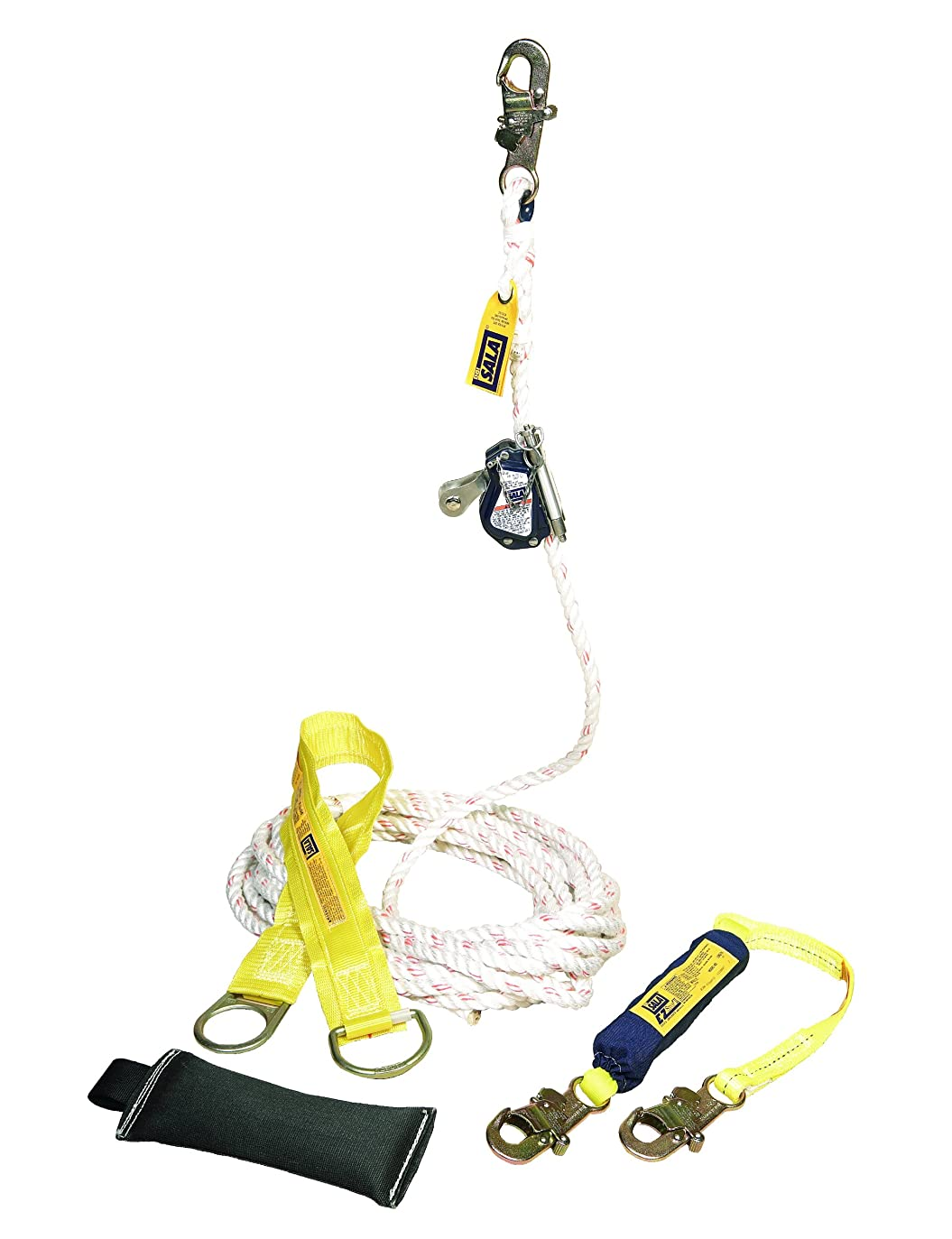 無駄だ湾自明3M DBI-SALA 5000401 Mobile Rope Grab Kit, Rope Grab, 3-Foot Shock Absorbing Lanyard, 100-Foot Rope Lifeline, Counterweight, Tie-Off Adaptor, And Carrying Bag by 3M Fall Protection Business