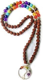 Wonder Care Authentic Rudraksh Mala-5face- Genuine Himalayan Rudraksha Seeds Religious Ornament Rosary Japa Mala Necklace...