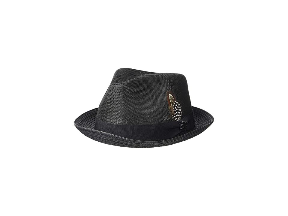 Stacy Adams Polyester Fedora (Black) Fedora Hats