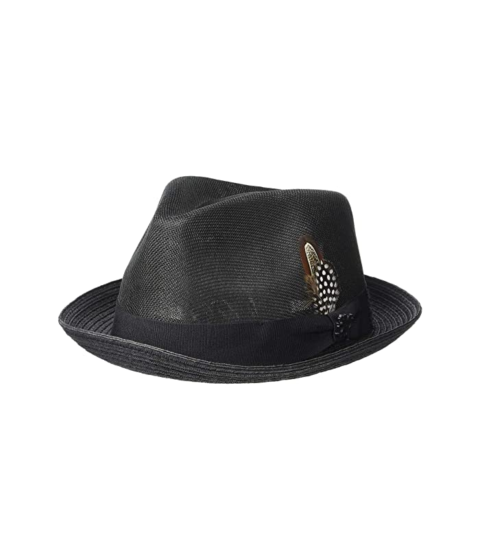 Stacy Adams Polyester Fedora (Black) Fedora Hats