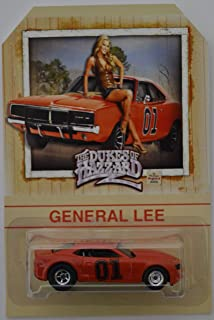 Hot Wheels '13 Copo Camaro Red Custom-Made with Real Rider Rubber Wheels Limited Edition The Dukes of Hazzard General Lee Series 1:64 Scale Collectible Die Cast Model Car