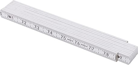 Redecker ADGA Folding Beech Wood Rule, US and Metric Measurements, Stainless Steel Springs, 78-3/4-Inch Extended Length Folds to 9-1/2 Inches