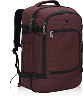 Hynes Eagle Travel Backpack 40L for Men Flight Approved Carry on Backpack Brown