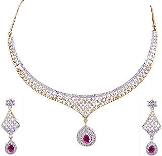 Sitashi Imitation/Fashion Jewellery AD Zircon Necklace Set for Girls and Women