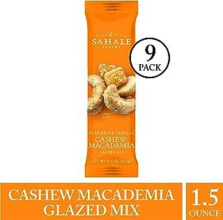 Sahale Snacks Tangerine Vanilla Cashew Macadamia Glazed Mix, 1.5 Ounces, 9 Count
