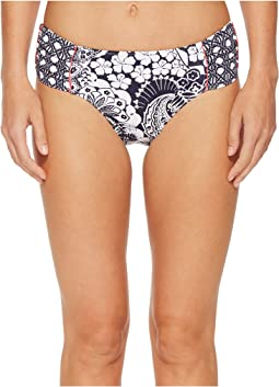 Tommy Bahama - Paisley Paradise Reversible High Waist Bikini Bottom