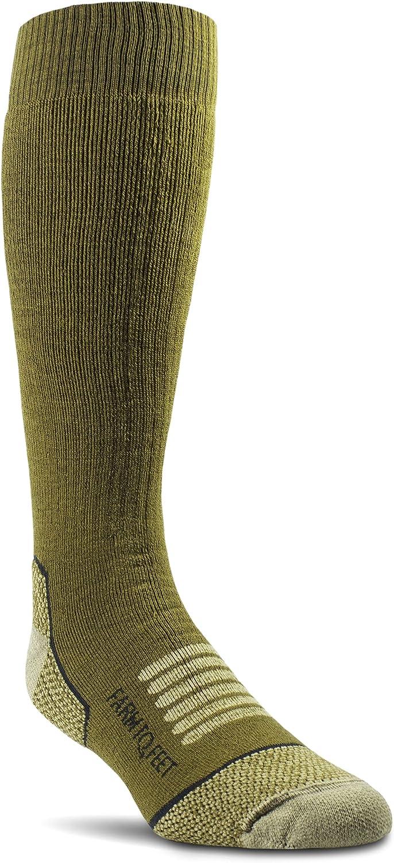 Farm to Feet Men's Ely Midweight Mid-Calf Socks, Breen
