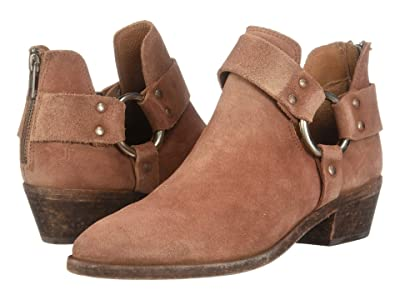 Frye Ray Harness Back Zip (Rosewood Oiled Suede) Women