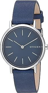 Skagen SKW2728 Reloj para Mujer, Correa Piel Azul, Caratula Azul, Análogo
