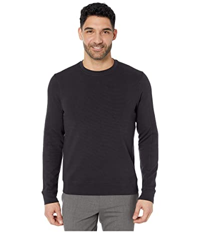 Perry Ellis Ottoman Rib Knit Long Sleeve Shirt (Black) Men