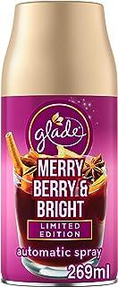 glade Lot de 4 recharges de désodorisant automatique pour la maison, Merry Berry & Bright, 269 ml, 321381C