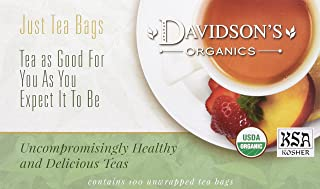 Davidson's Tea Herbal Cranberry Orange, 100-Count Tea Bags