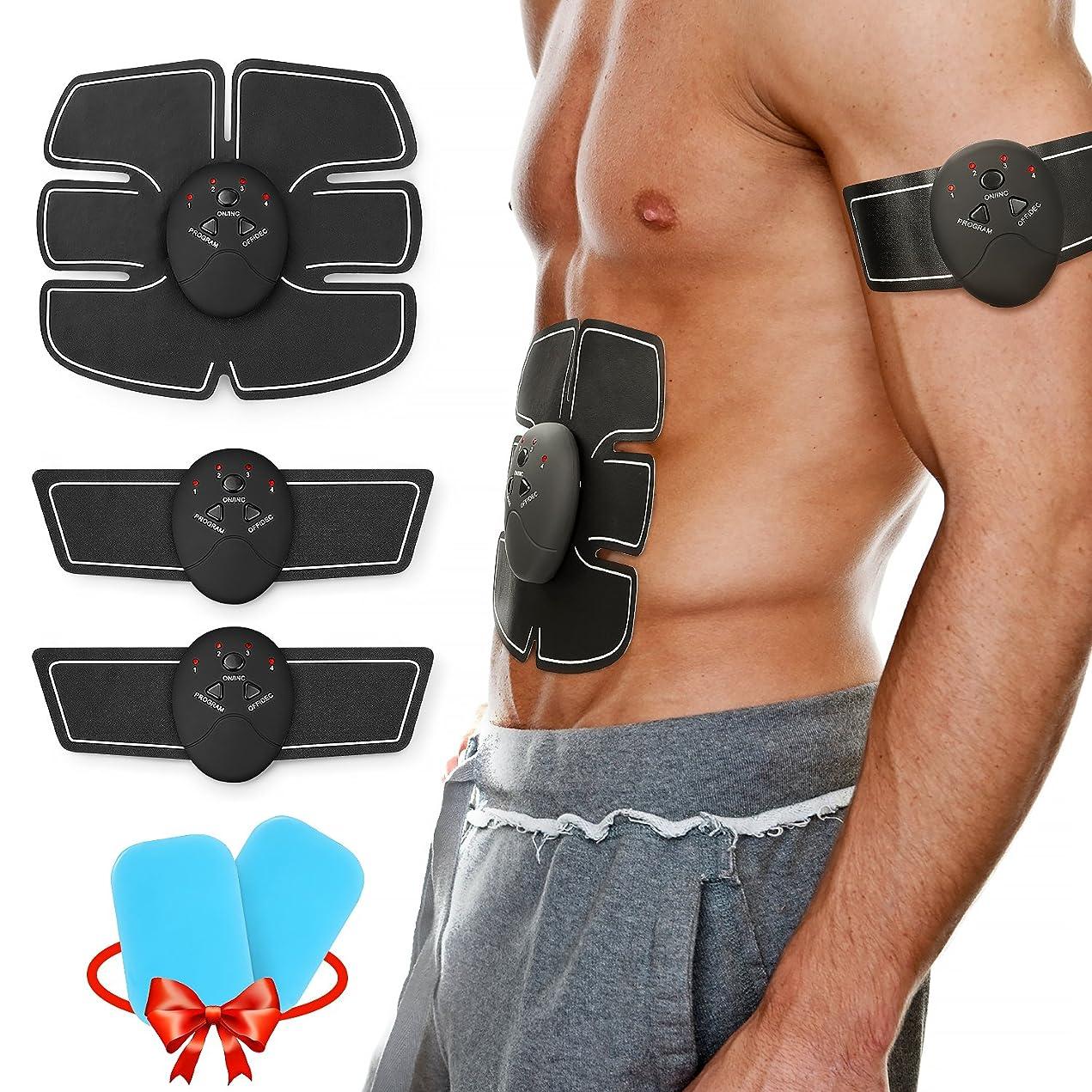 合理的またね地平線Lenbest 腹筋ベルトEMS 多機能 腹筋トレーニング 筋トレフィットネスマシーン 筋肉 お腹 腕部 ダイエット器具 超薄、静音 6つモード 10段階強度 男女兼用 日本語説明書付き