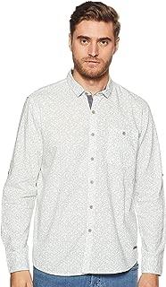 CHEROKEE Men's Printed Regular fit Casual Shirt (400018072752_Aqua L)