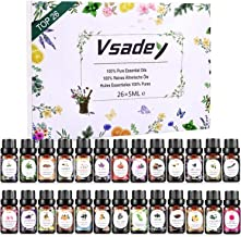 Essential Oils Set, VSADEY Aromatherapy Essential Oil Kit for Diffuser, Humidifier, Massage, Skin Care - Lavender, Eucalyp...