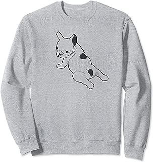 French Bulldog Doing Yoga Looking Back Sweatshirt