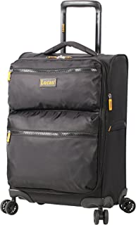 Ultra Lightweight Carry On Softside 20 inch Expandable Luggage With Spinner Wheels (20in, Black)