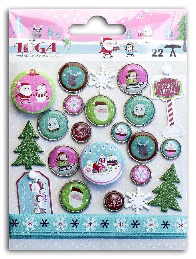 Toga Christmas at The North Pole Set Embellishments, Plastic, Multicoloured, 10?x 13.5?x 1?cm