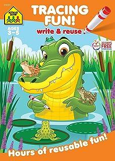 School Zone - Tracing Fun! Write & Reuse Workbook - Ages 3 to 5, Preschool to Kindergarten, Letters, Pre-Writing, Numbers,...