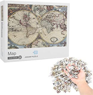 Jigsaw Puzzle Toy, Map Jigsaw Puzzle, Jigsaw Puzzle 75x50cm Educational Jigsaw Puzzle for Anniversary Gift Thanksgiving Ch...