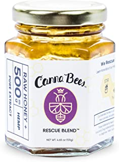 Bee Delightful Canna Bees | Raw Honey + Pure Hemp Extract (500mg) for Calm and Comfort | Zero THC | Made in The USA | High Potency Hemp for Anxiety, Inflammation, Sleep Aid, Depression - 4.65 Ounces …