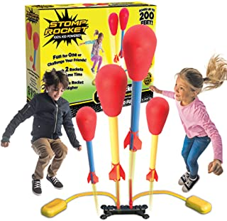 The Original Stomp Rocket Dueling Rockets, 4 Rockets and Rocket Launcher - Outdoor Rocket Toy Gift for Boys and Girls Ages...