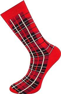 Mysocks, Hombres tobillo calcetines de tartán Rojo