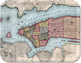 Trays4Us Manhattan 1840 16x12 inches (Large) Map Serving Tray - 70+ Different Designs
