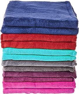 Microfiber Bath Towels Super Absorbent, Ultra-Soft, Fade Resistant Set of 12 Pieces Multicolour 70x140cm- 340 GSM