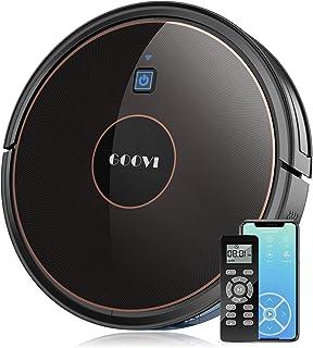 GOOVI Robot Vacuum, 1600Pa Wi-Fi Robotic Vacuum Cleaner (Slim) with Alexa, Quiet, Self-Charging Vacuum, for Pet Hair, Hard Floor, Medium-Pile Carpets