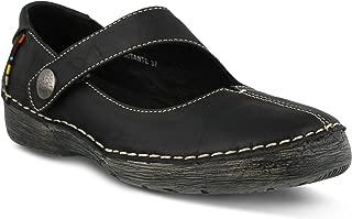 Women's Spring Step Debutante Mary Jane Shoe | Color Black | Women's Polished Leather Slip-on