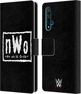 オフィシャル WWE New World Order ブラック&ホワイト スーパースター 7 Huawei Nova 5T 専用レザーブックウォレット カバーケース