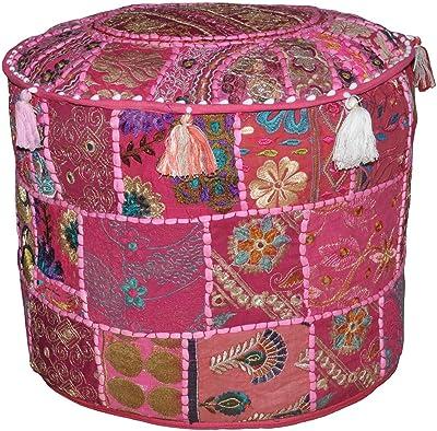 Marrakech Accessoires - Pouf redonda de algodón, 50 cm ...