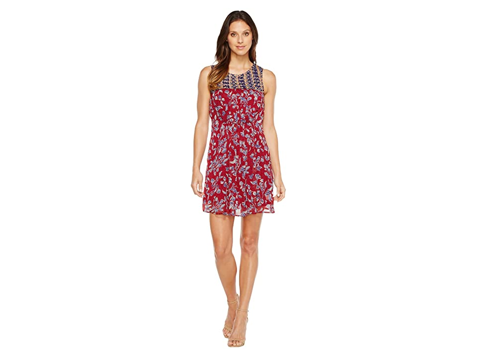 Lucky Brand Mixed Print Dress (Red Multi) Women