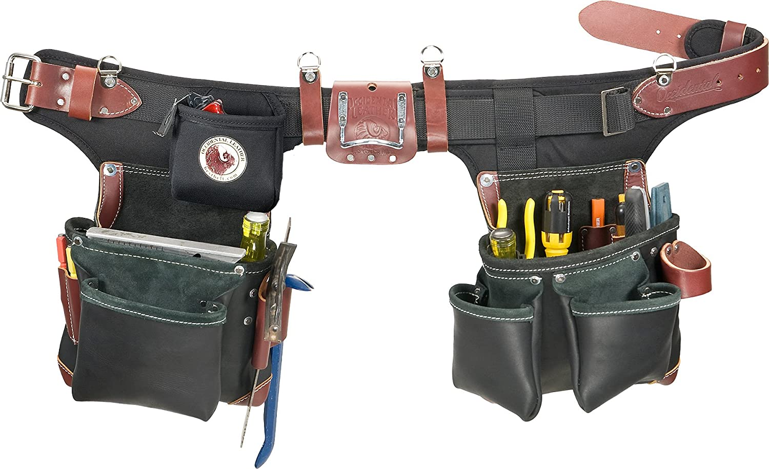 Weekly update Occidental Boston Mall Leather B9588 Adjust-to-Fit Tool Building Green Belt