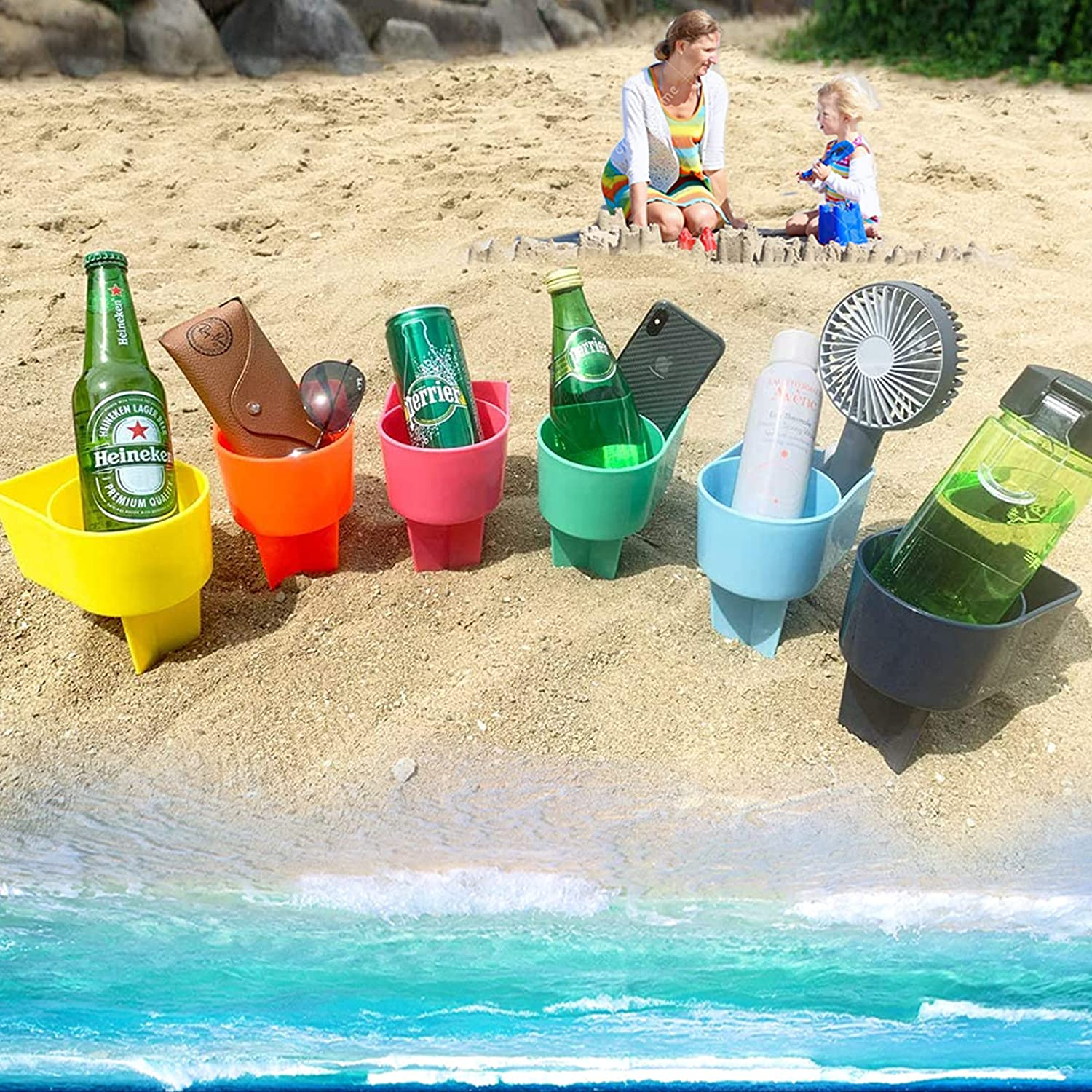 Manufacturer direct delivery wyewye Beach Sand Cup Drink Vacation Holder Beverage Chicago Mall