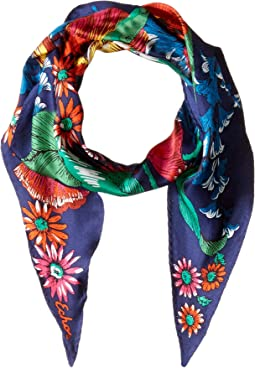 Mumbai Floral Silk Diamond Shaped Scarf