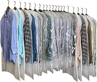 InikoLife 洋服 カバー 日本製 クリアタイプ 20枚組 (通常サイズ15枚+ロングサイズ5枚) 前面はハッキリ見えるクリア素材 背面は通気性抜群の不織布素材 2素材を組み合わせたアイデア洋服カバー 大切な衣類を安心保管