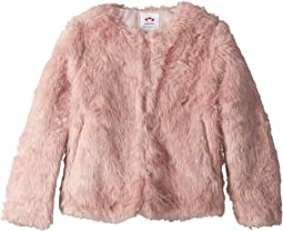Extra Soft Shimmer Faux Fur Coat (Toddler/Little Kids/Big Kids)