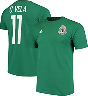 adidas Carlos Vela Mexico National Team Federation Name & Number T-Shirt - Green