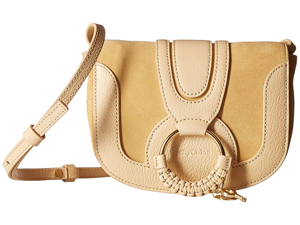 See by Chloe Hana Small Leather Crossbody Bag (Straw Beige) Handbags