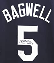 Jeff Bagwell Houston Astros Signed Autographed Custom Blue #5 Jersey PAAS COA