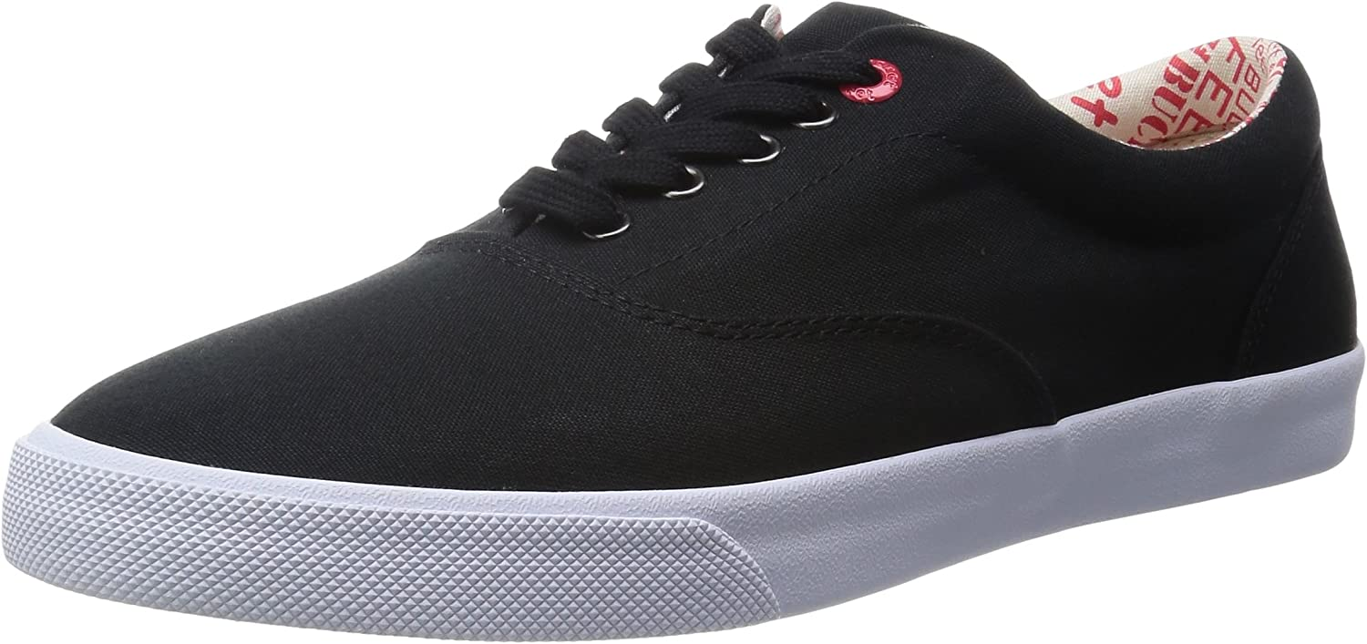 Bucketfeet Men's Basic Lace-Up Lace Down Canvas Fashion Sneakers Black 9