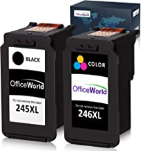 OfficeWorld Compatible Ink Cartridge Replacement for Canon PG-245XL 245XL CL-246XL 246XL PG-243 for Pixma MX492 MG2920 MG2520 iP2820 MG2922 MG2420 MG2522 MG3022 MG2924 (1 Black + 1 Tri-Color)