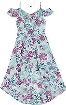 Amy Byer Girls' Big High-Low Cold Shoulder Dress