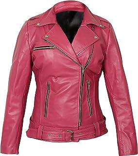 ESBAIG Mens Stylish Lambskin Genuine Leather Motorcycle Biker Jacket 51