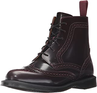 Dr. Martens Womens Delphine Red Arcadia Brown Size: